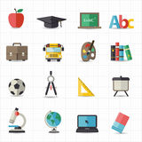 Education back to school icons Royalty Free Stock Photography