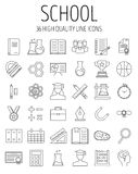 Education and back to school line icons set. Stock Photography
