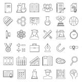 Education and back to school line icons set. Stock Photo