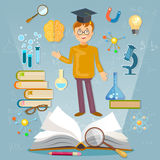 Education back to school student studying school subjects Royalty Free Stock Images