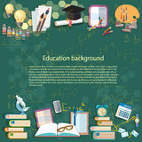 Education background: back to school Royalty Free Stock Images