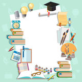 Education background diploma exams back to school college Stock Photo