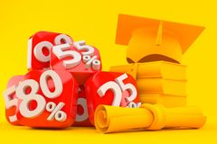 Education background with percent numbers royalty free illustration