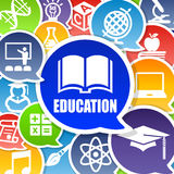 Education Background with Speech Bubbles Royalty Free Stock Images