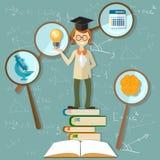 Education background teacher back to school Royalty Free Stock Photos