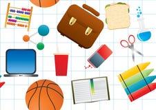 Education background on white Stock Photo