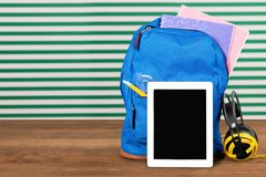Education Backpack Royalty Free Stock Photography