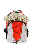 Education: Backpack with Money Tuition Concept Stock Photo