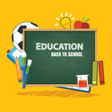 Education banner and back to school background template Stock Images