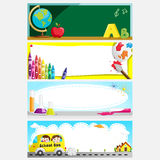 Education banners. A vector illustration of a set of education or back to school banners Royalty Free Stock Photos