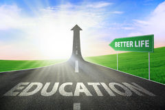 Education for better life Royalty Free Stock Photo
