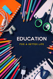 Education for a better life Stock Photography