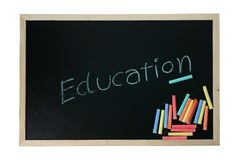 Education on  blackboard Stock Photography