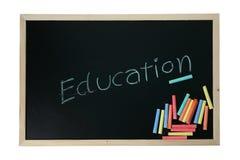 Education on  blackboard Stock Photography