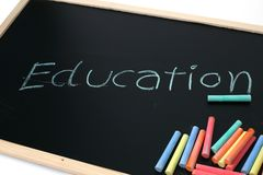 Education on  blackboard Royalty Free Stock Images