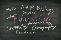 Education on blackboard Royalty Free Stock Photos