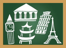 Education blackboard Royalty Free Stock Photos