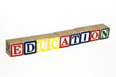 Education blocks Royalty Free Stock Images
