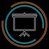 Education board icon, school chalk board stock illustration