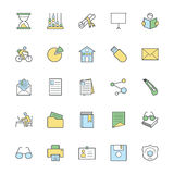 Education Bold Icons Illustration 4 Stock Image