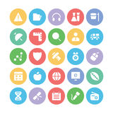 Education Bold Vector Icons 5 Royalty Free Stock Photo