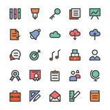Education Bold Vector Icons 2 Royalty Free Stock Images