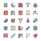 Education Bold Vector Icons 6 Royalty Free Stock Images