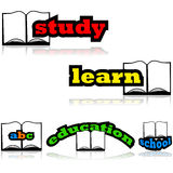 Education with a book Royalty Free Stock Photography