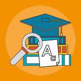Education book icon Royalty Free Stock Photography