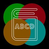 Education book icon - library or bookstore icon. Vector literature symbol. Thin line pictogram - outline editable stroke stock illustration