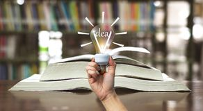 Education book idea concept library brightness of light. Education book idea concept in library brightness of light royalty free stock images