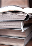 Education book on table. Close up photo Royalty Free Stock Photography