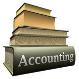 Education books - accounting. Five thick old education books on pile Royalty Free Stock Images