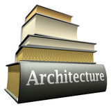 Education books - architecture. Five thick old education books on pile Royalty Free Stock Photography