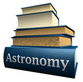 Education books - astronomy stock image