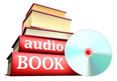 Education books - audio book. Five thick old education books on pile Royalty Free Stock Images