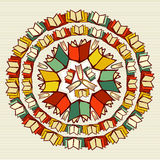 Education books back to school mandala. Royalty Free Stock Image