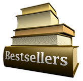 Education books - bestsellers Royalty Free Stock Images
