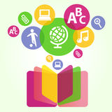 Education from books Stock Image