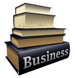 Education books - business. Five thick old education books on pile Royalty Free Stock Photography