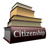 Education books - citizenship. Several education books of departments Stock Photography