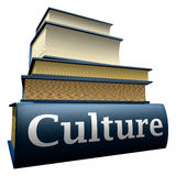 Education books - culture. Five thick old education books on pile Royalty Free Stock Photo