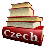 Education books - czech royalty free illustration