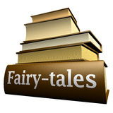 Education books - fairy-tales. Five thick old education books on pile Stock Images