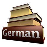 Education books - german. Five thick old education books on pile Stock Images