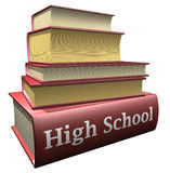 Education books - high school. Several education books of high school Royalty Free Stock Image