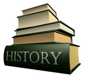Education books - history Royalty Free Stock Photo