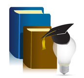 Education books idea Royalty Free Stock Image