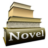 Education books - novel. Five thick old education books on pile Royalty Free Stock Images