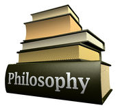 Education books - philosophy royalty free stock photography